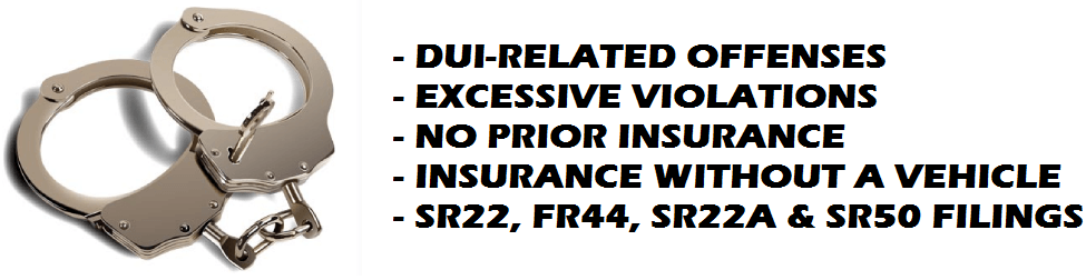 Florida FR44 Insurance, FR44 Insurance in Florida, Florida FR44 Insurance without a car, Non-Owner SR22 Insurance, FL FR-44, Georgia SR22A Insurance, Indiana SR50 Insurance