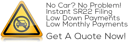 no car sr22 insurance