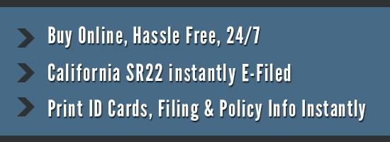 California SR22 Online Filing