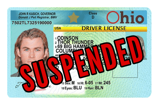 Ohio Suspended Drivers License