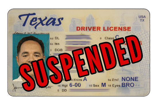 Suspended driver's license in Texas