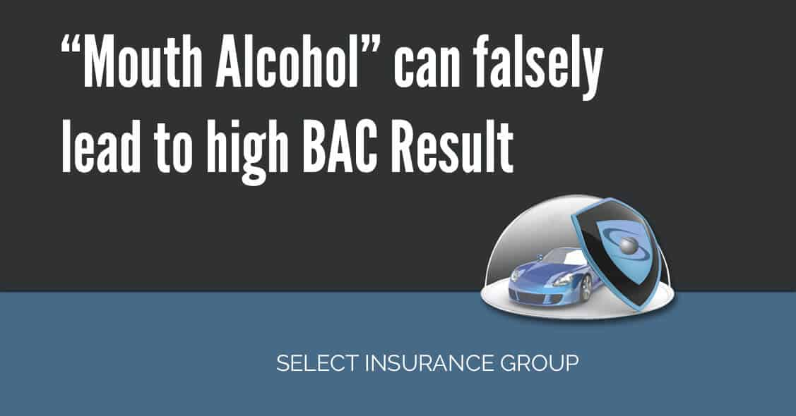 """Mouth Alcohol"" can falsely lead to high BAC Result"