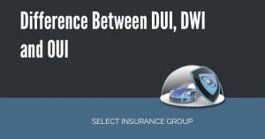 Difference Between DUI, DWI and OUI